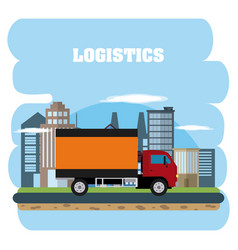 logistics and delivery concept vector image