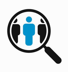 Magnifying glass search people vector