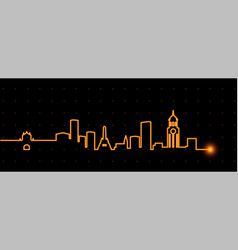 Manila light streak skyline vector