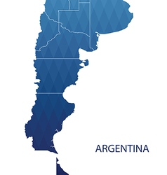 map argentina vector image