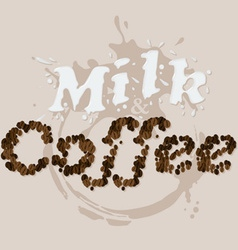 Milk and Coffee vector image