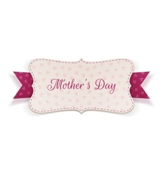 Mothers day realistic banner with festive ribbon vector