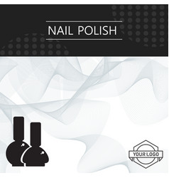 nail polish banner template abstract vector image