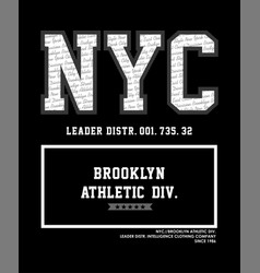 nyc brooklyn athletic vector image