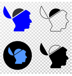 open mind eps icon with contour version vector image