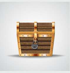 Opening treasure box vector