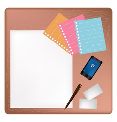 Pen and Smartphone on A Blank Page with Envelope vector image