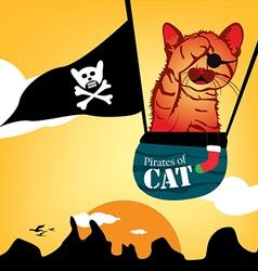 Pirates of cat vector