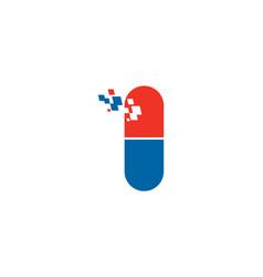 Pixel pill logo vector