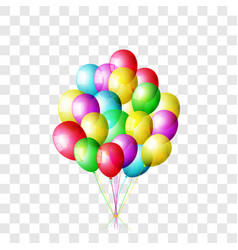 realistic color balloons set isolated on vector image