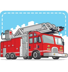 Red Fire Truck or Fire Engine vector