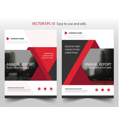 red triangle brochure annual report leaflet vector image