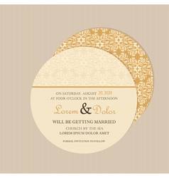 Round vintage invitation card vector