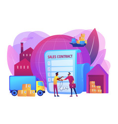 Sales contract terms concept vector