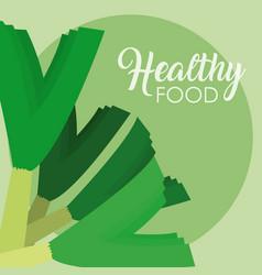 Scallion healthy food vector