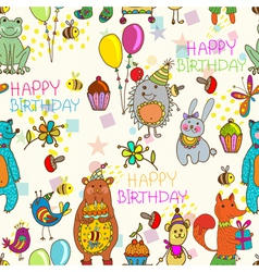 seamless hedge birthday vector image