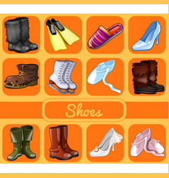Set of shoes for all occasions sketch for holiday vector