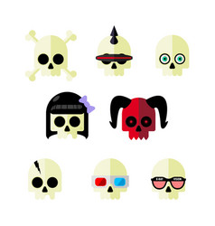 Skulls part two vector