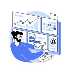 social media dashboard abstract concept vector image