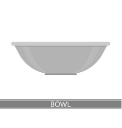 Steel bowl icon vector