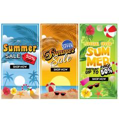 summer commercial sale flyer vector image