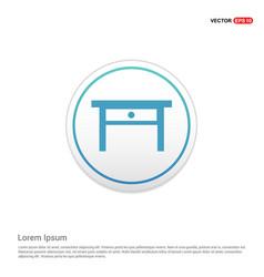 Table icon - white circle button vector