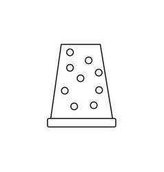 Thimble icon vector