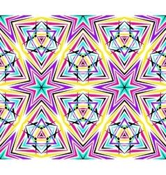 Thin Kaleidoscope Star Pattern vector image