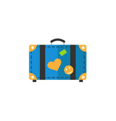 travel bag flat icon travel tourism vector image vector image