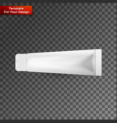 tube of toothpaste cream or gel grayscale vector image