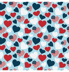 usa heart pattern vector image