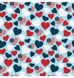 Usa heart pattern vector