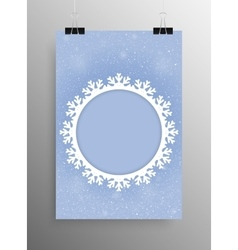 Vertical Poster Snow Christmas Frame New Year vector image