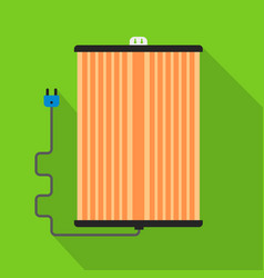 Wall ir heater icon flat style vector