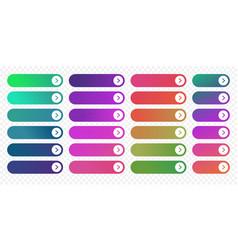 web button flat design template next arrow icon vector image