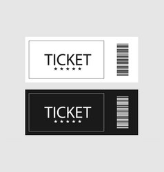 white black ticket icons on gray background vector image
