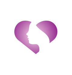 woman head graphic design template vector image