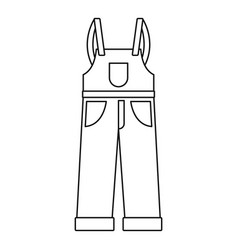 worker pants icon outline style vector image