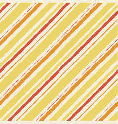 yellow pattern seamless watercolor orange striped vector image