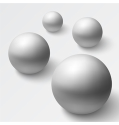 Abstract background with realistic grey spheres vector image