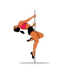 Beautiful dancer girl on the pole vector image