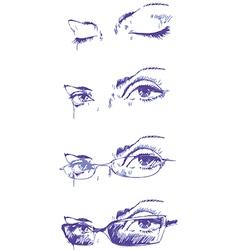Eyes Set vector image vector image