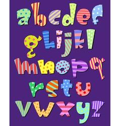 lower case comic alphabet vector image vector image