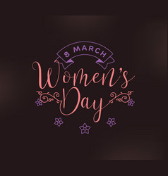 8 march womens day background vector image