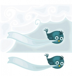 bird with banner vector image