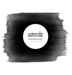 black paint stroke watercolor grunge effect vector image vector image