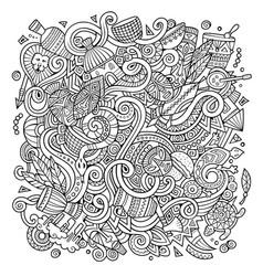 cartoon cute doodles africa vector image