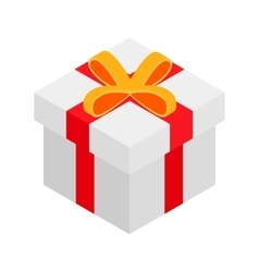 Gift box isometric 3d icon vector image vector image