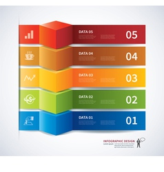 infographics tab data banner 3d vector image vector image