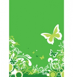 green floral vector image vector image